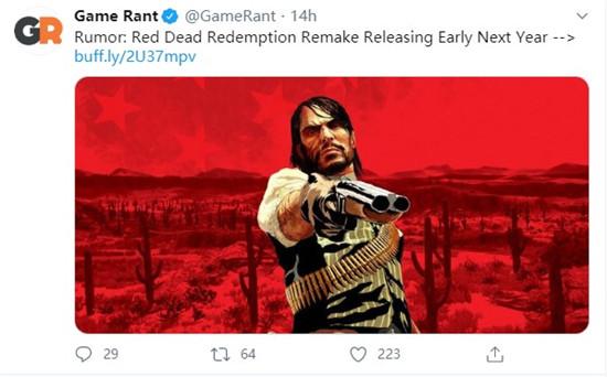 《荒野大镖客重制版》或于2021年发售 登陆PC+PS5+Xbox