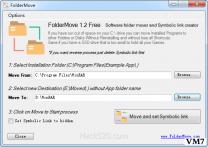 移动软件程序安装位置节省C盘空间 ; FolderMove 汉化绿色版