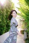张柏芝印花长裙