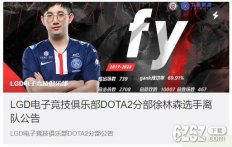 Dota2 LGD战队官宣 Dota2职业选手fy和Maybe离队